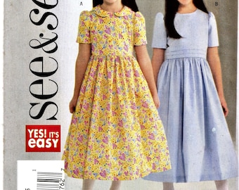 Butterick 4098   Toddlers/Little Girls Dresses       Size 2,3,4,5       Uncut