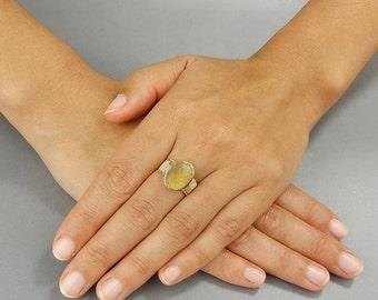 Citrine Ring, Wire Wrapped Ring, Oval Citrine Ring, Gold Filled Ring, November Birthstone, Boho Chic Ring, Citrine Gemstone, Gift for Women