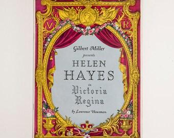 1936 Playbill: Gilbert Miller presents Helen Hayes in Victoria Regina by Laurence Houseman