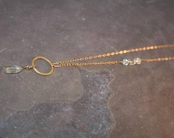 GOLD GODDESS Amethyst and Goldfilled Necklace