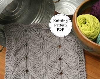 KNITTING PATTERN-Glamour, Dishcloth Pattern