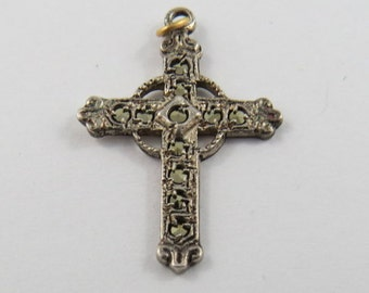 Beautiful Cross Sterling Silver Pendant or Charm.