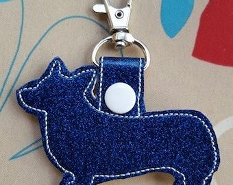 Corgi Key Fob Blue
