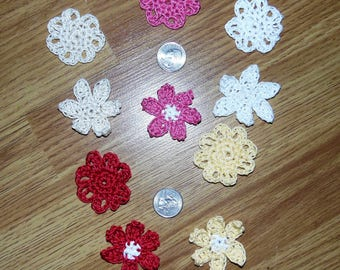 Crochet Flower Embellishments