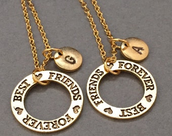 Best friends jewelry, best friends necklace, friends jewelry, bff necklace, friendship jewelry, friends, personalize necklace, initial charm