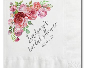 Bridal Shower Napkins - 100 Personalized