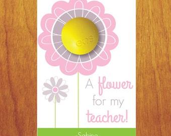 EOS Teacher Gift- EOS Teacher Appreciation- A Flower for My Teacher Valentine- Flower Teacher Valentine- Flower Valentine