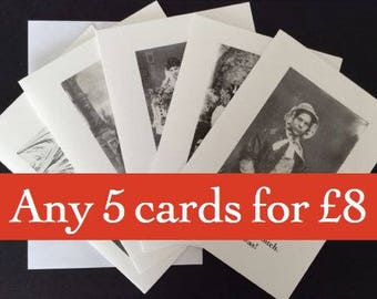 Pick'n'Mix pack of 5 A6 cards
