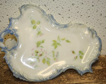 Vintage Milk Glass Dresser Tray