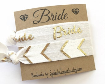 Bride To Be Gift - Hair Tie Favor - Gift for the Bride to be - Elastic Hair Ties