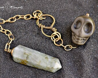 Labradorite Pendulum ~ Dead Men Tell No Tales