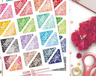 Study Corner Watercolor Planner Stickers | Erin Condren | Kikki K | Filofax | Life Planners | Happy Planner
