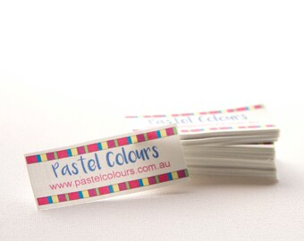"""132 - 1""""  x 2.5"""" - sew in fabric labels - Your logo and text"""