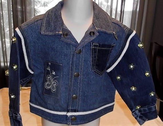Resfurbished Girls Denim Jacket, Size 3T