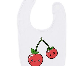 Cherries Bib Gift Present Baby Shower Birthday