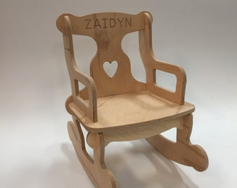 Medium Unfinished Puzzle Rocking Chair