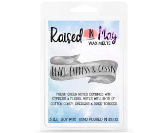Black Cypress Cassis Wax Melt - Wax Cube - Home Fragrance - Cypress - Soy Wax Tart - Soy Wax Melt - Soy Wax - Candle - Soy Candle - Cassis