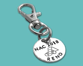 NAC 2018 AKC National Championship Commemorative Charm - Hand Stamped Sterling Silver - Dog Agility - Canine Agility