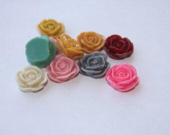 24 PETAL ROSE Cabochons - 20mm - CHOOSE your Colors