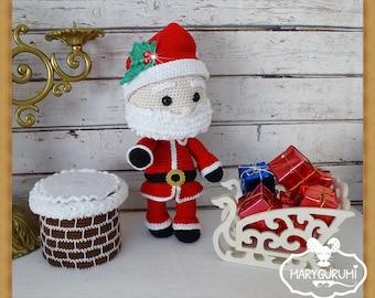 Santa Claus plush crochet, Amigurumi