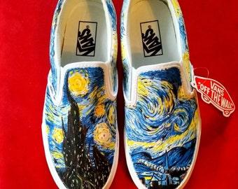 Custom Painted Vans Slip-Ons