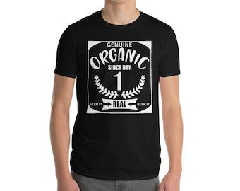 Organic Since Day One Short-Sleeve T-Shirt Kale Yeah Tshirt Farm T shirt Foodie T shirt Farm fresh food Tshirt Veggie Tee Plus size clothing