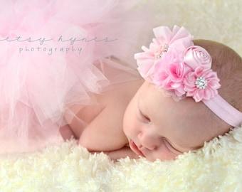 Light Pink Baby Headband, Infant Headband, Newborn Headband, Baby Headband, Toddler Headband, Girls Headband, Easter Headband