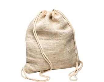 CORE HEMP Men & Women Sport Gym Sack Drawstring Backpack Bag Handmade From 100% Hemp