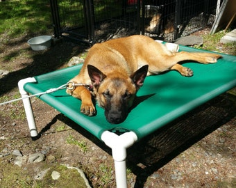 Elevated Bed 32x44, 11 Mesh Colors OR 15 Canvas Colors Dog Cot, Outside Beds, Kennel Beds, Cat Bed, Veterinarian Beds, Dogs Up To 130 Pounds
