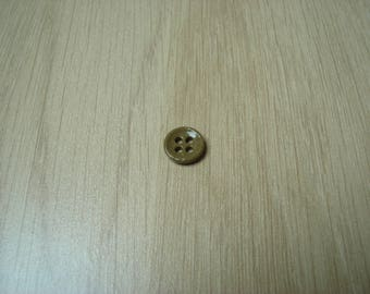 glass button red four hole