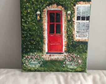 The red door in Charlestown