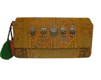 Banjara Clutch bag, Bohemian, Vintage Clutch, Trendy Clutch bag Indian Gypsy Boho Sling Purse, Embroidery Bohemian Clutch bag indian clutch