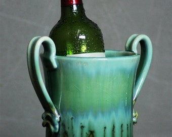 Wine Chiller Utensil Holder Rainbow Trout turquoise green