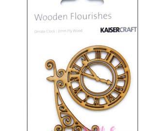 Cut clock Kaisercrafts scrapbooking cardmaking X 1