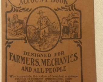 Pierces Memorandum and Account Book 1918 and 1919