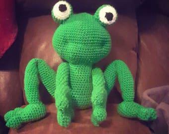 Crochet Stuffed Frog