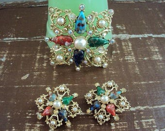 Fab 60s Sarah Coventry Brooch Earrings