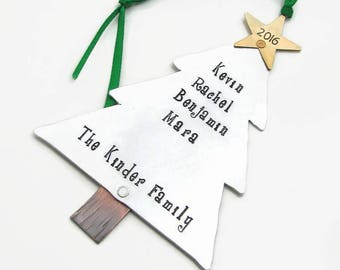 Personalized Christmas Ornament, Hand Stamped Ornament, Christmas Ornament, Personalized Ornament, Christmas Tree Ornament, Custom Ornament