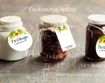 SUNFLOWER #1•Custom Tags•Labels•Earring Display•Clothing Tags•Custom Hang Tags•Boutique Card•Tags•Custom Tags•Custom Labels