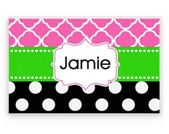 Personalized Placemat, Personalized Kids Placemat, Laminated Placemat, Kids Gifts, Childrens Gift, Personalized Gifts, Table Placemat