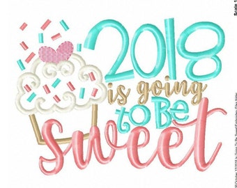 2018 is going to be Sweet -2018 -New Years -New Years Celebration -New Years Vibe -Holiday -New Years Resolution -Welcome 2018 -King 2018