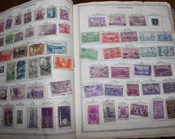 Vintage Stamp Collection Spanning Nearly 100 Years