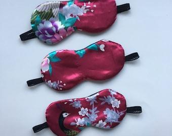 Pink Satin Kimono Eco-Friendly Sleep Mask