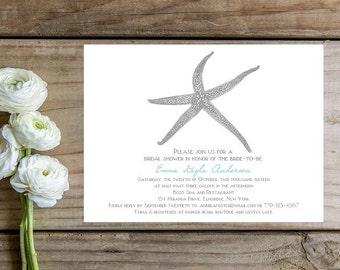 Beach Bridal Shower Invitations - Sample