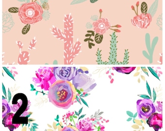 Spring floral baby clothes - floral baby girl clothes - baby flower clothes - baby high waisted bloomer - baby romper - baby bummies -