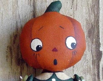 CF279 Itty Bitty Pumpkin Heads - PDF ePattern Cloth Pumpkin Head Dolls Ornament Pattern
