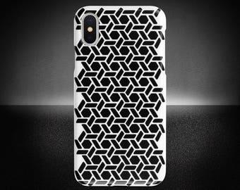 New Era Geometric Phone Case, iPhone X Case, Geometric Phone Cover, Protective Phone Case, Samsung Note Case, Sturdy Phone Cover