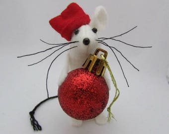 Christmas Mouse - Christmas Bauble Mouse - Felt Mouse - Felt Mice - Mouse Christmas Decoration