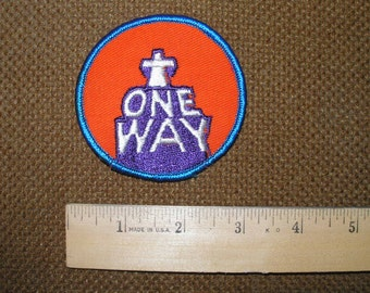 """Vintage patches from 1970's """"One Way"""""""