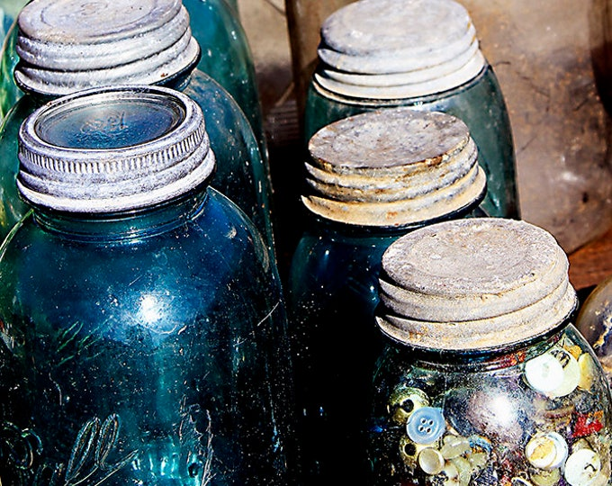 Kentucky Canning Jars by Brenda Salyers, Fine Art Giclee Print on Paper or Custom order Canvas, Custom or Framed Orders Welcome